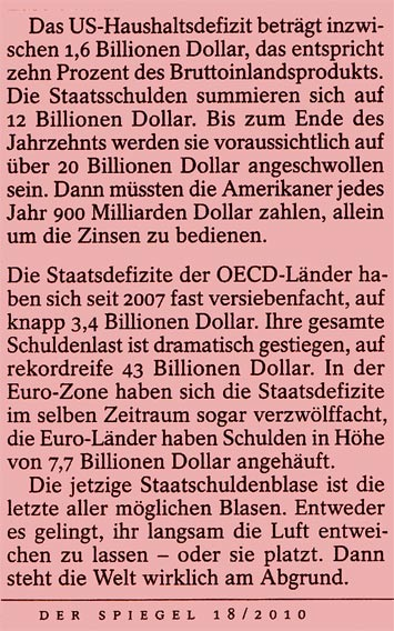 Staatsdefizit USA EU