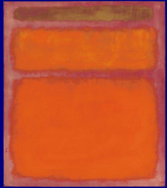Rothkos Ölmalerei 'Orange, Red, Yellow'