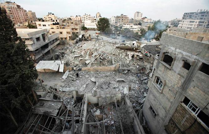 Israel zerbombt die Hamas-Zentrale