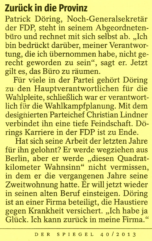 Patrick Döring FDP