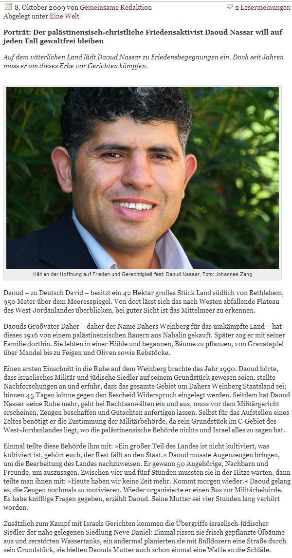 Israel konkret - Daoud Nassar