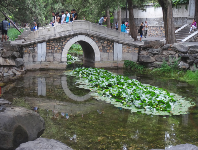 Brücke im Sommerpalas