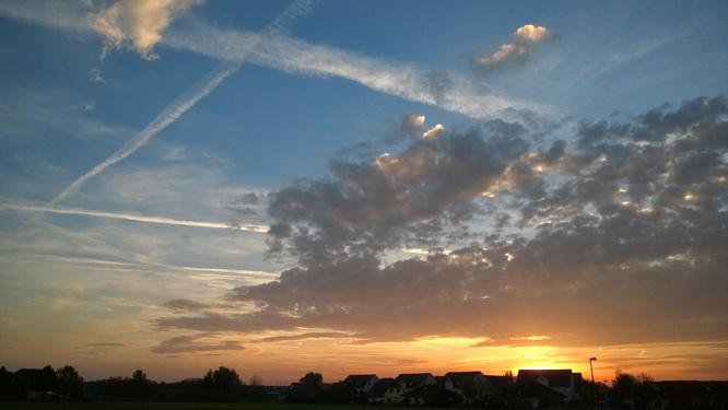 Sunset in Gommern, 02.11. 16:24